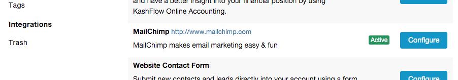 Mailchimp integration Capsule CRM