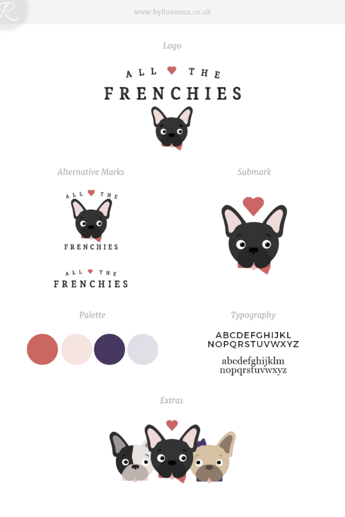 Brand Concept Board for AllTheFrenchies.com