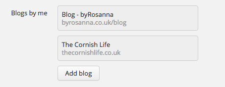 Add a blog to Bloglovin