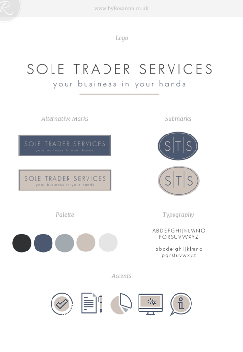 Sole Trader Services Brand Concept - byRosanna