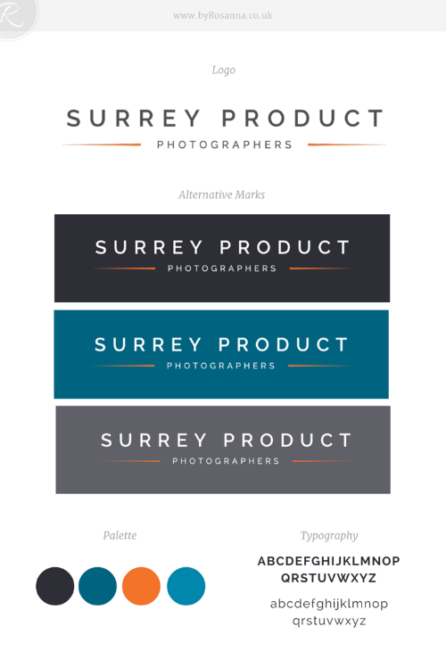 Product Photographers Surrey brand board