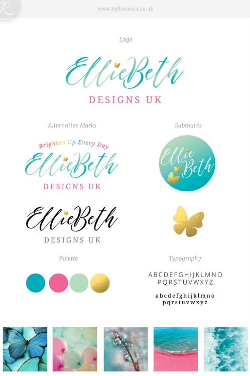EllieBeth Designs UK Brand Concept