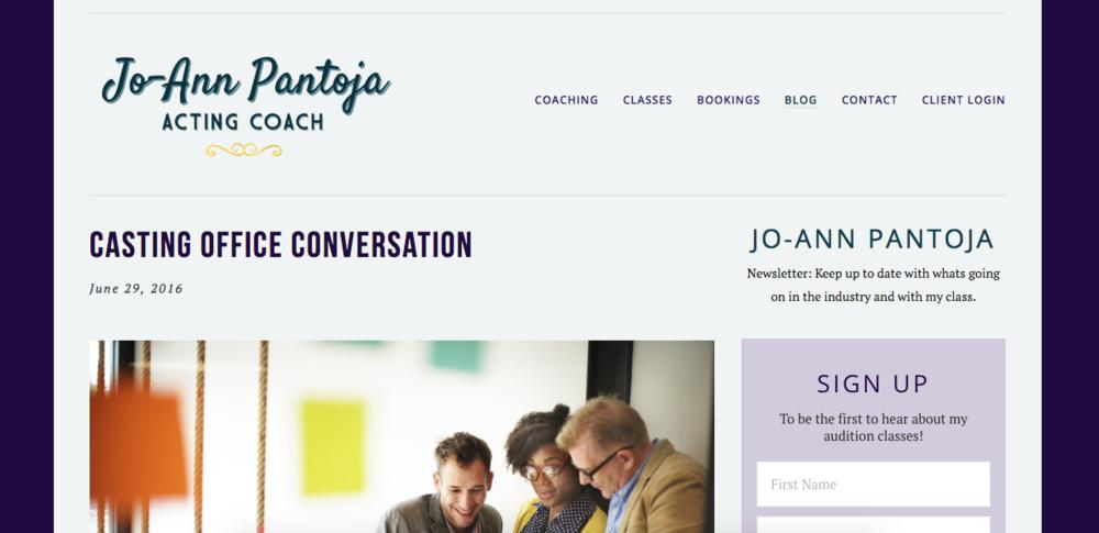 JoAnn Pantoja website