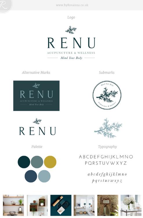 ReNu Brand Concept Board | byRosanna