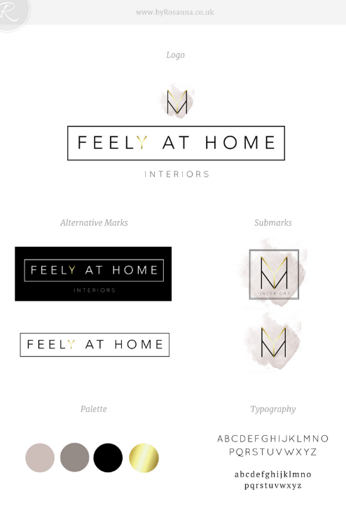 Feely at Home brand board