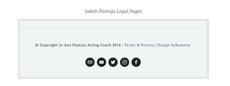 JoAnn Legal Pages
