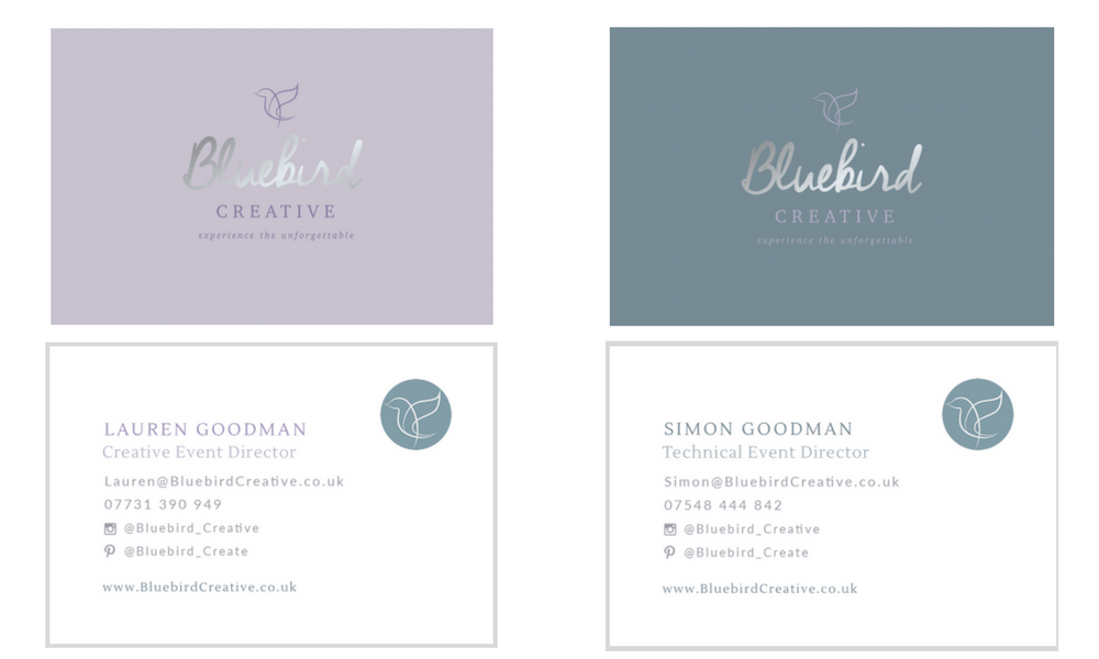 Bluebird Creative Business Cards