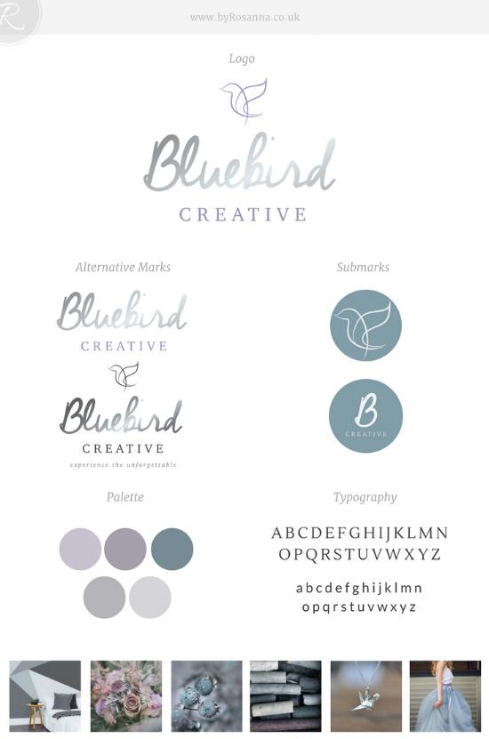 Bluebird Creative Brand Board | byRosanna