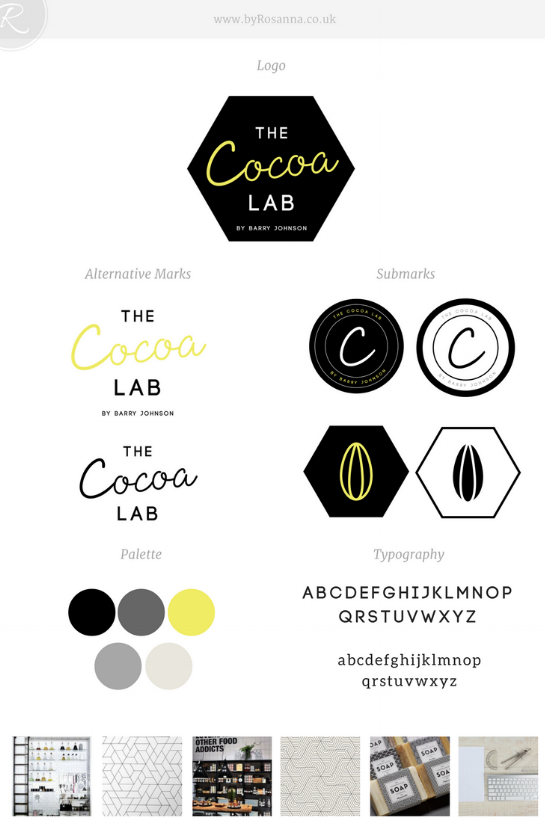 The Cocoa Lab Brand Board | byRosanna