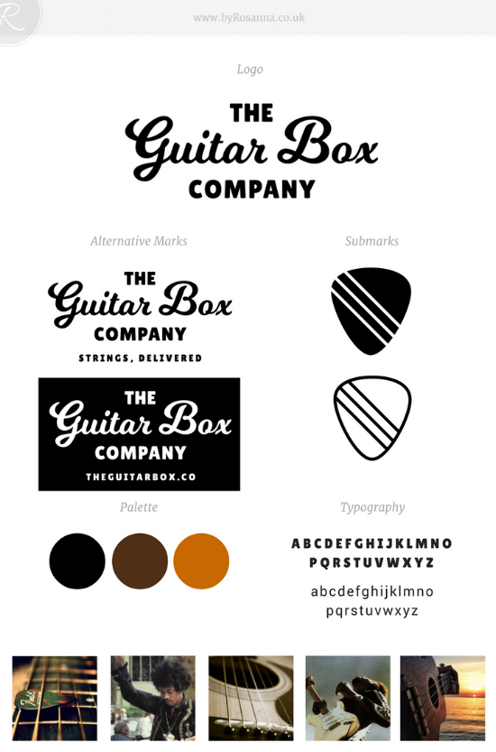 The Guitar Box Company Brand | byRosanna