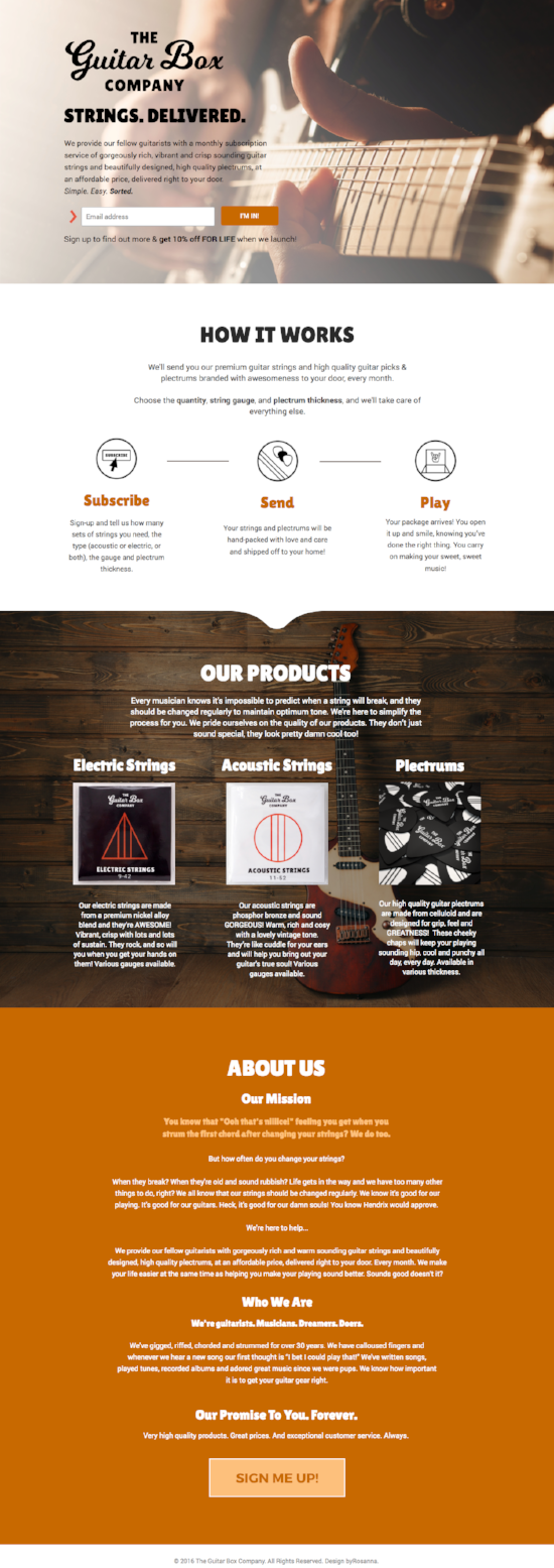 The Guitar Box Company Website | byRosanna