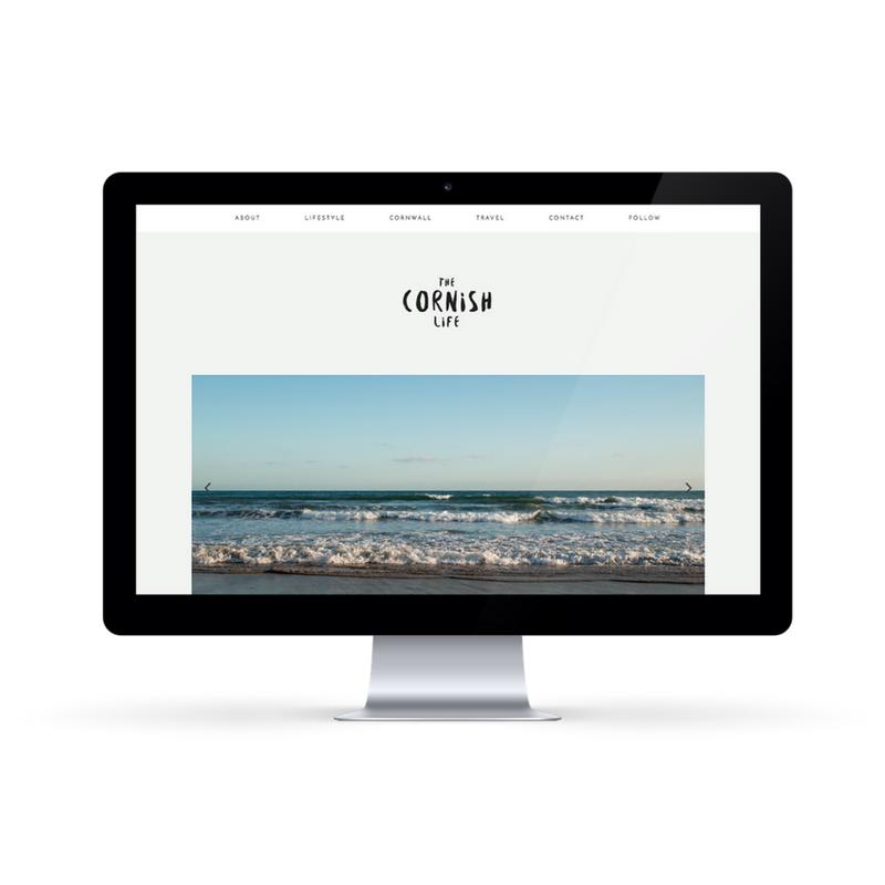 The Cornish Life Website design byRosanna