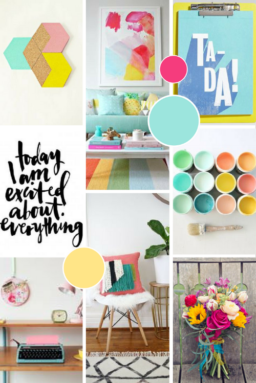 Chameleon Creative Content Moodboard | byRosanna Brand Design