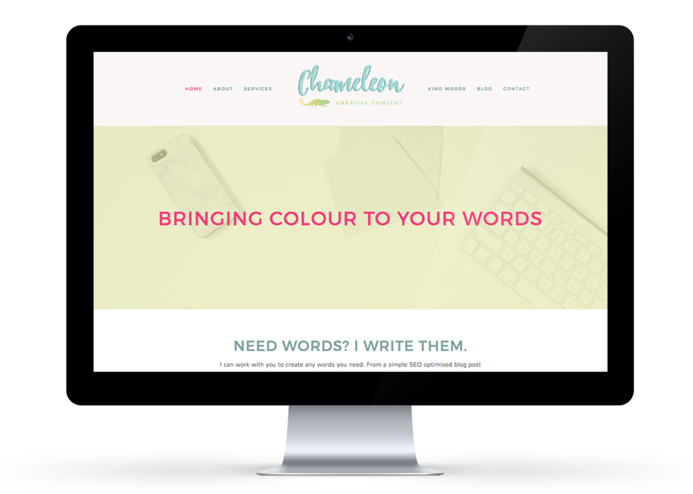 Chameleon Creative Content Website Design | byRosanna