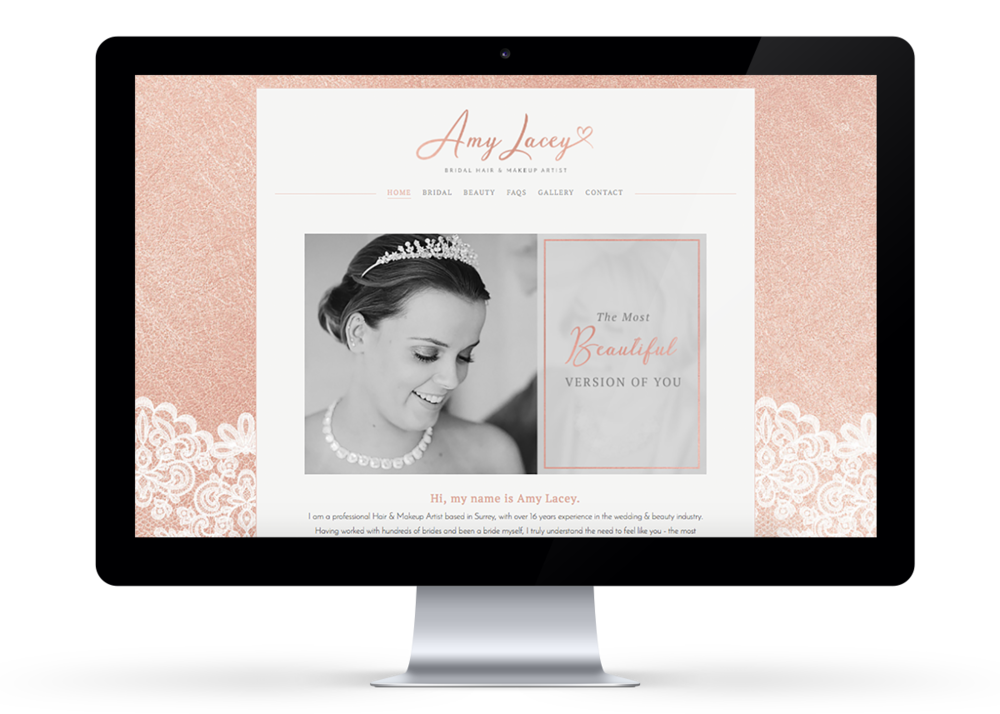 Amy Lacey Website Design | byRosanna
