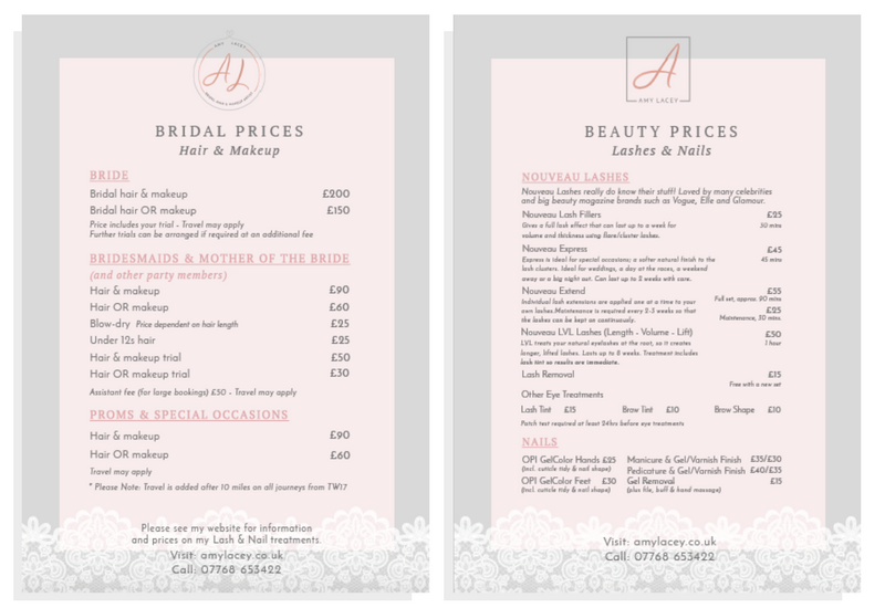 makeup artist prices for weddings brand amp website design for byrosanna 5656