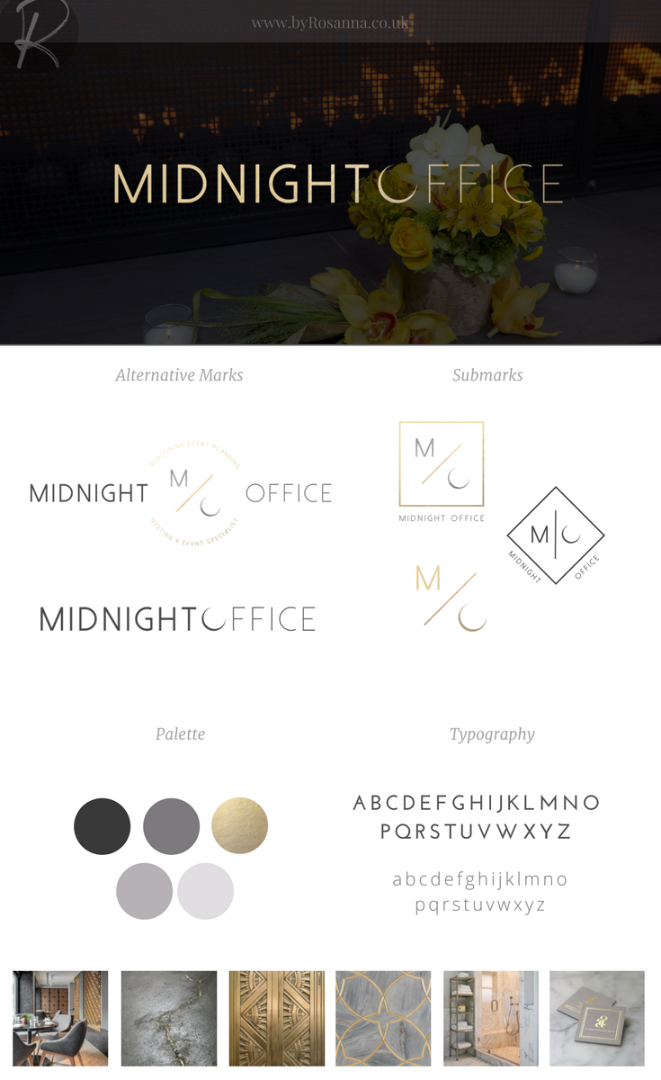 Midnight Office Branding | byRosanna