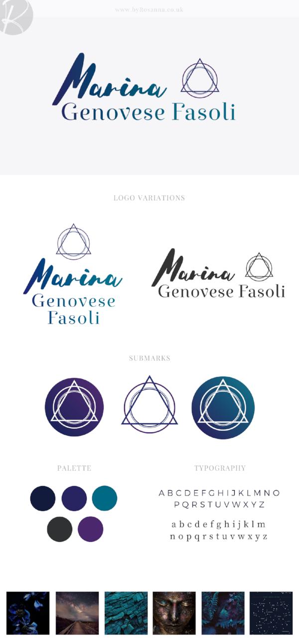 Marina brand concept board | byRosanna