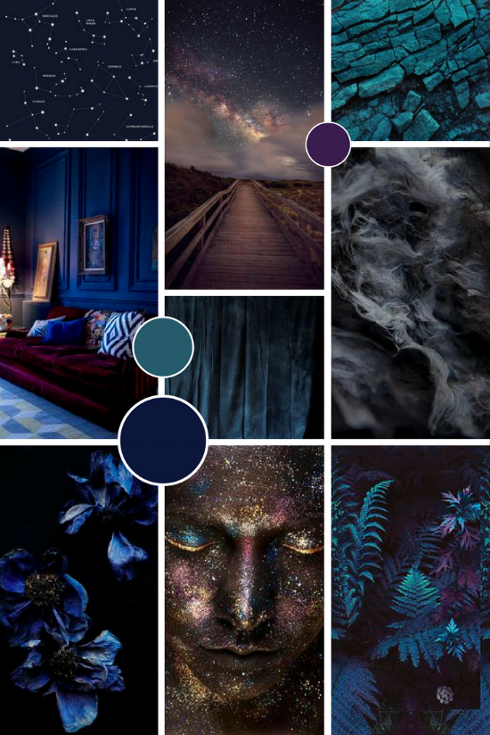 Galaxy inspired brand moodboard | byRosanna