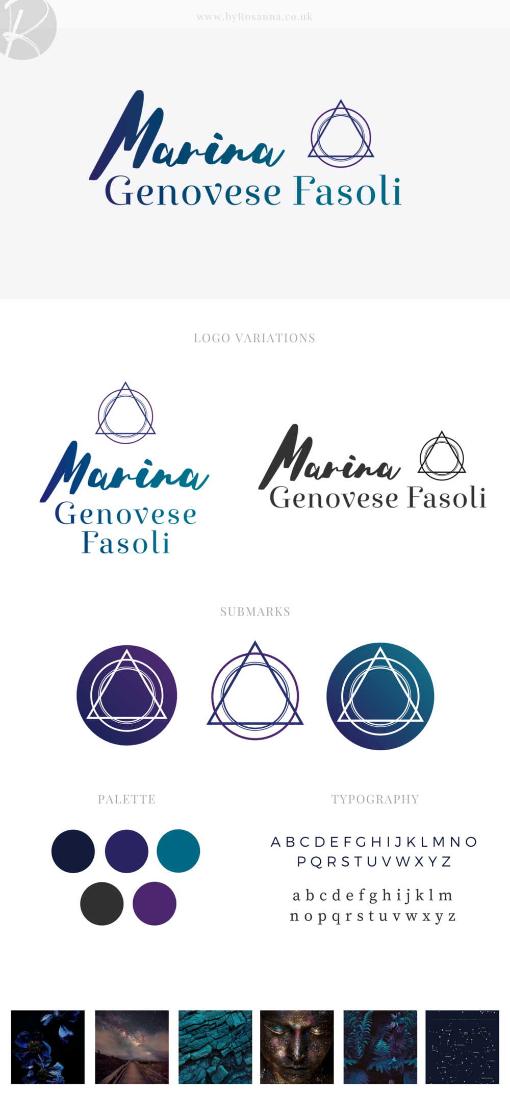 Mind body and spirit brand concept board | logo design | byRosanna