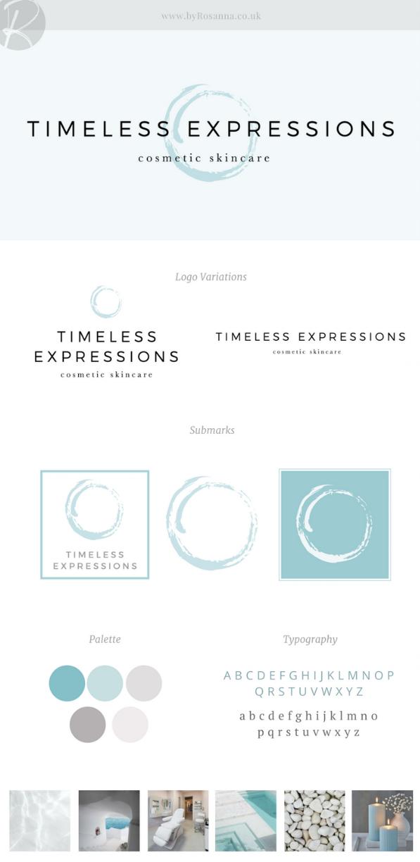 Timeless Expressions brand design byRosanna