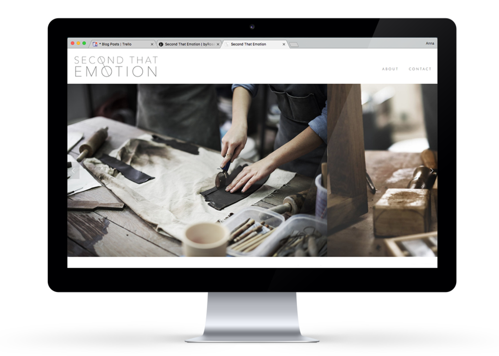 Website design on Squarespace
