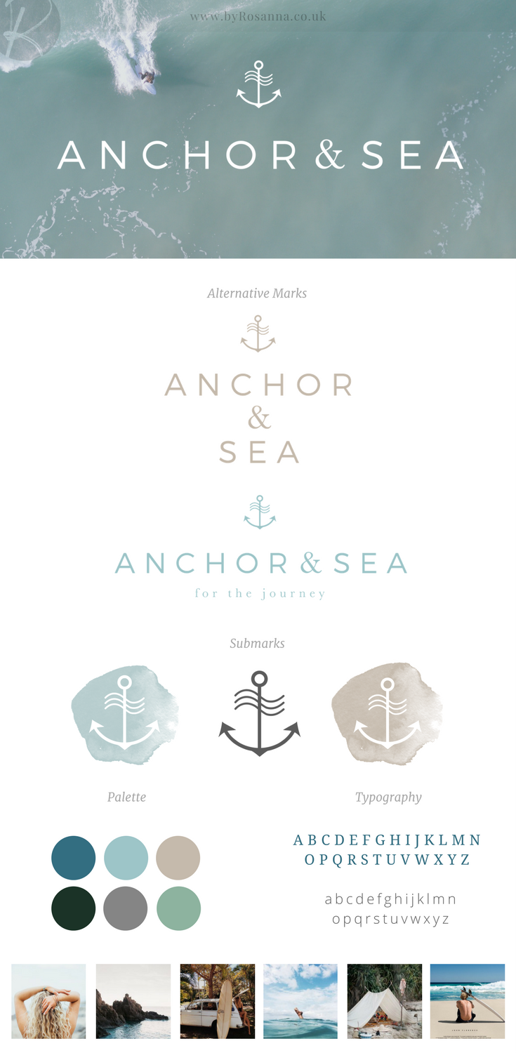 Anchor & Sea brand design
