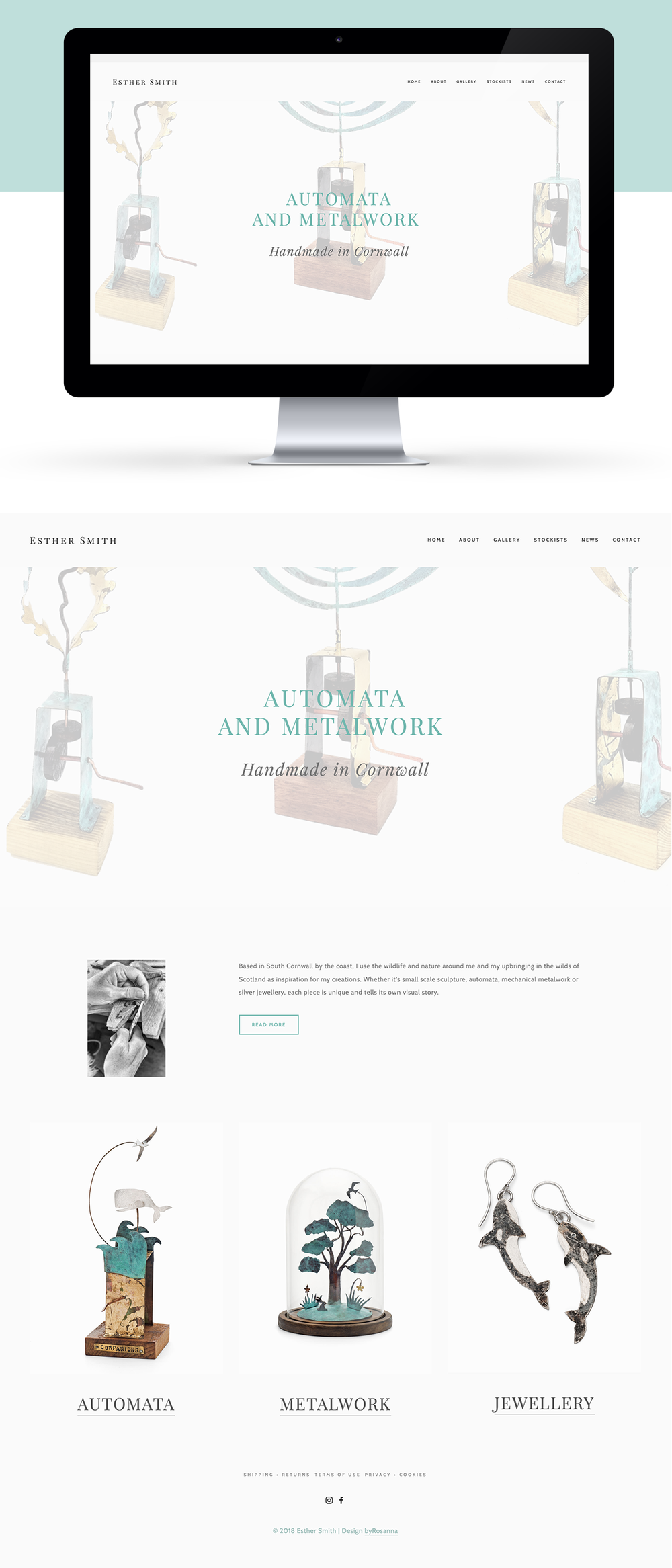 Esther smith website design