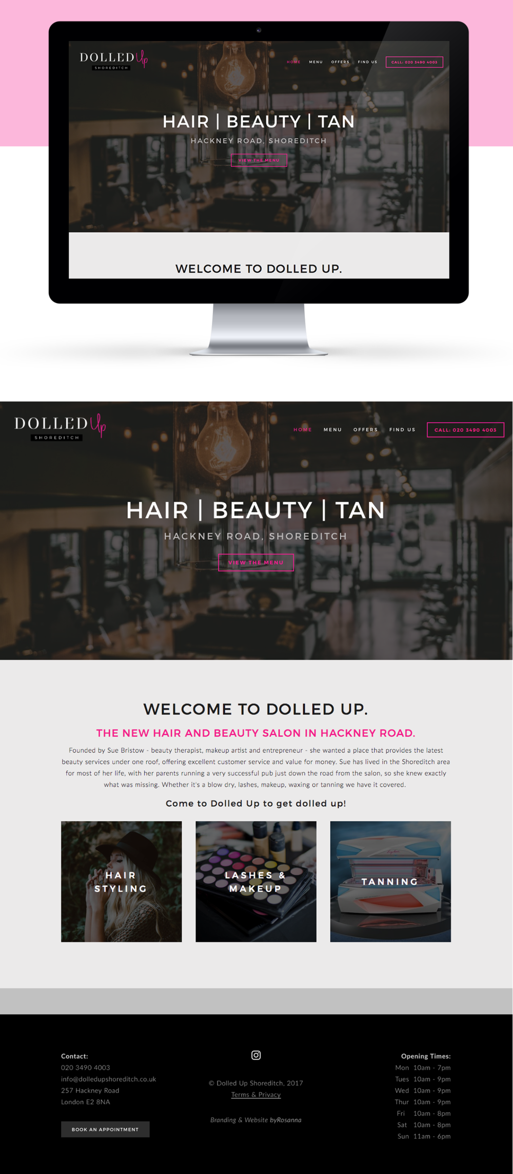 Dolled Up website design