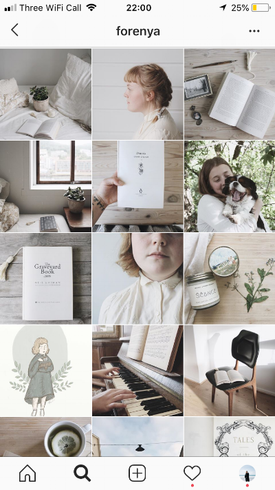 Instagram theme and editing style
