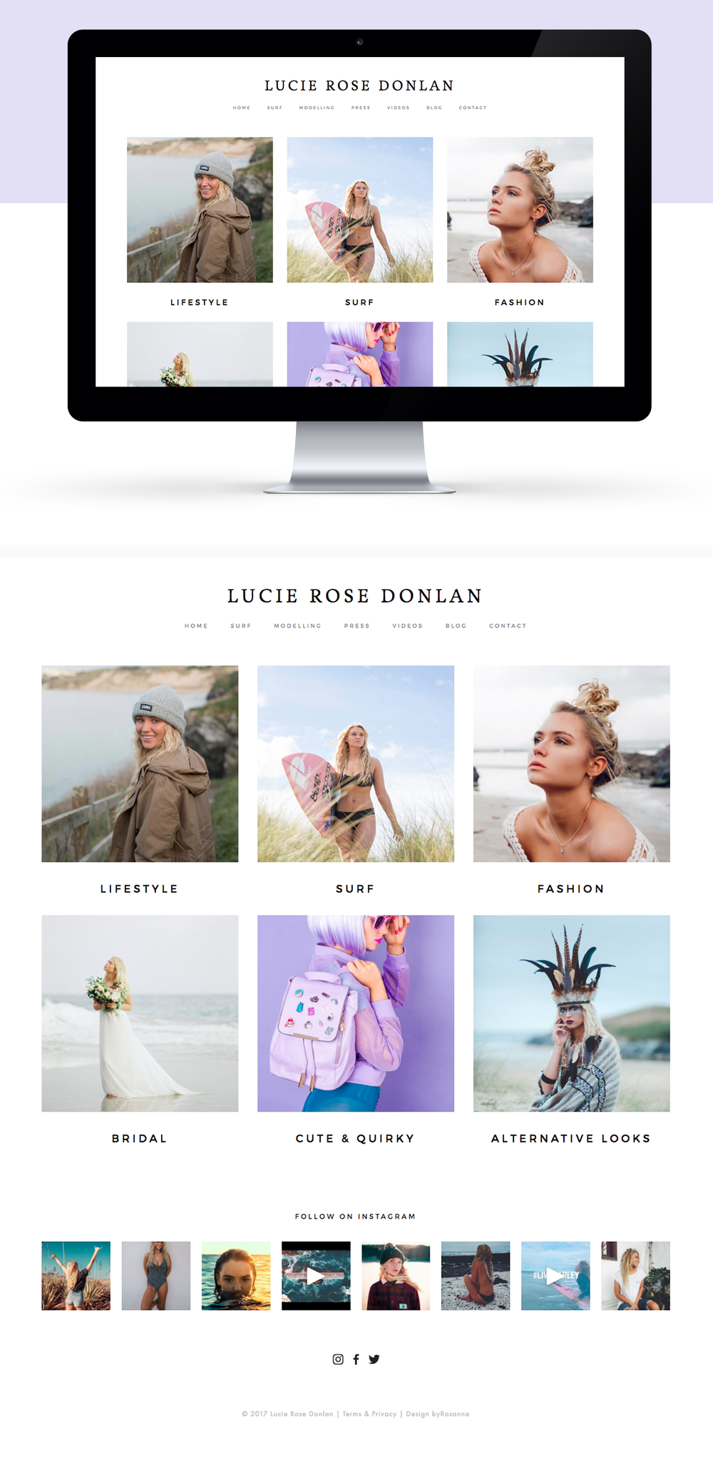 Lucie Rose Donlan website design
