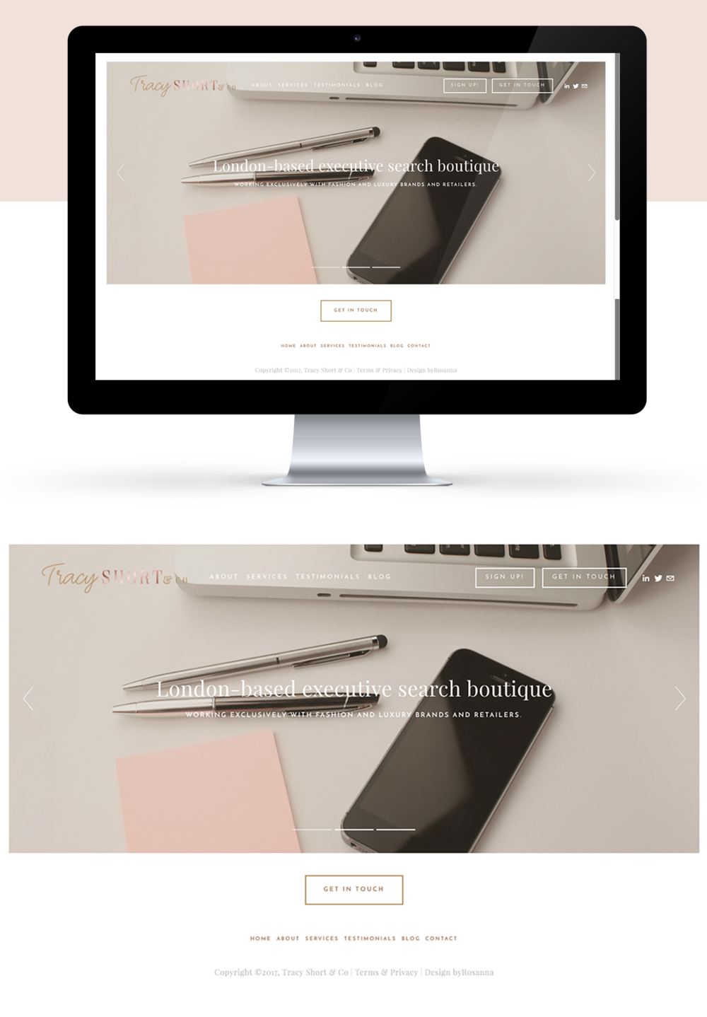 Squarespace website design byRosanna
