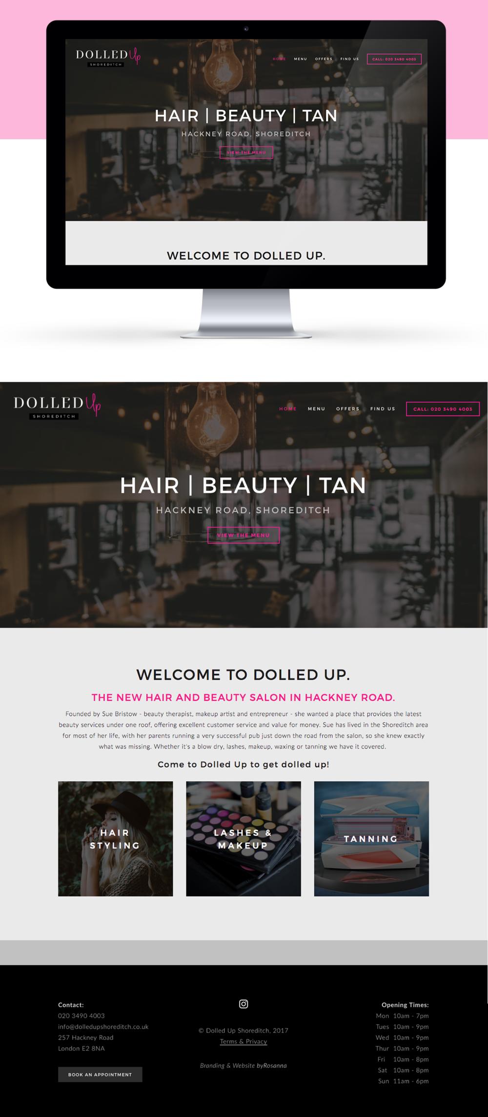 Dolled up website design