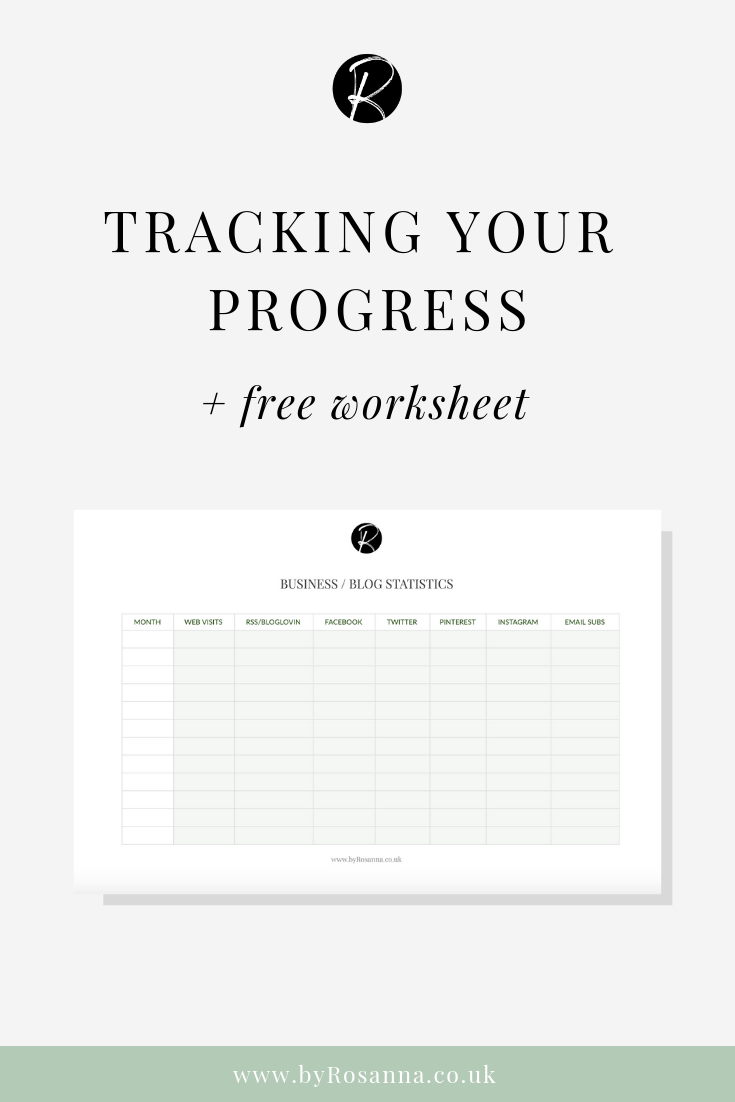 Tracking your progress on your blog or business (+ FREE worksheet)