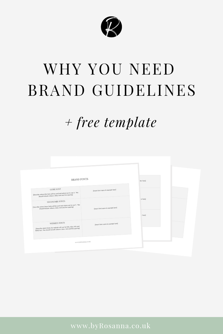 Why you need brand guidelines (+ FREE brand guidelines document template!)
