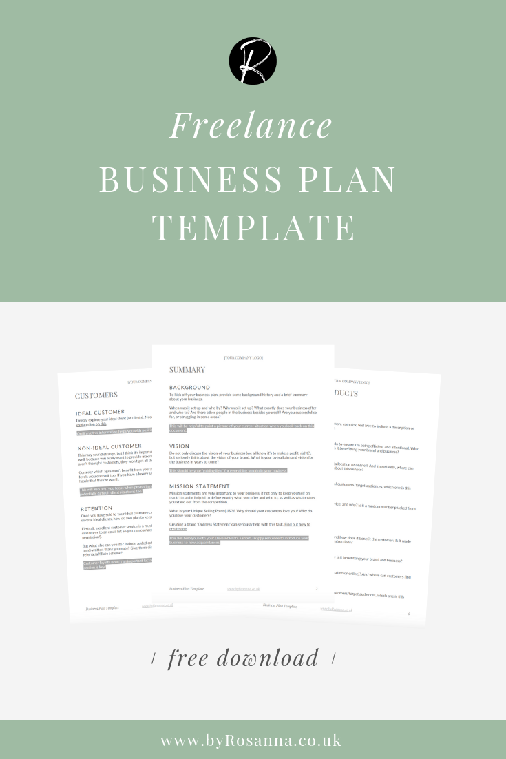 Freelance Business Plan Template download