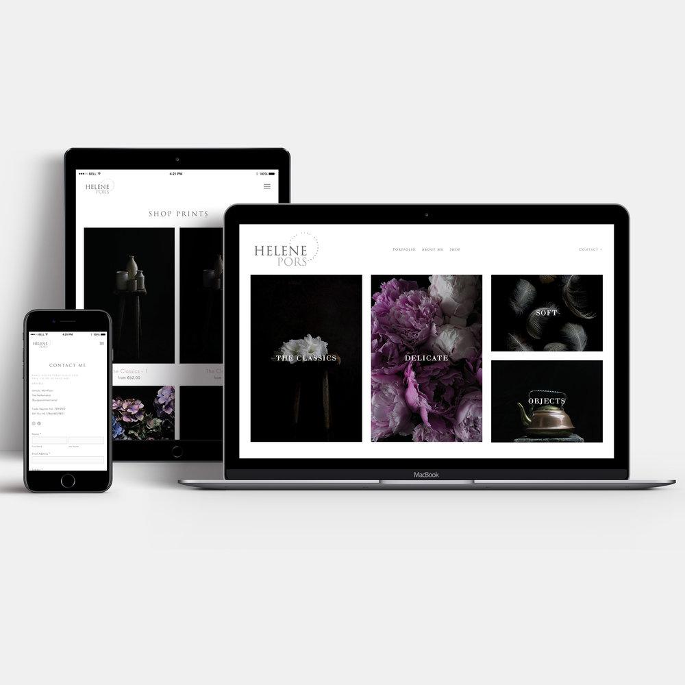 Photographer website design in Squarespace