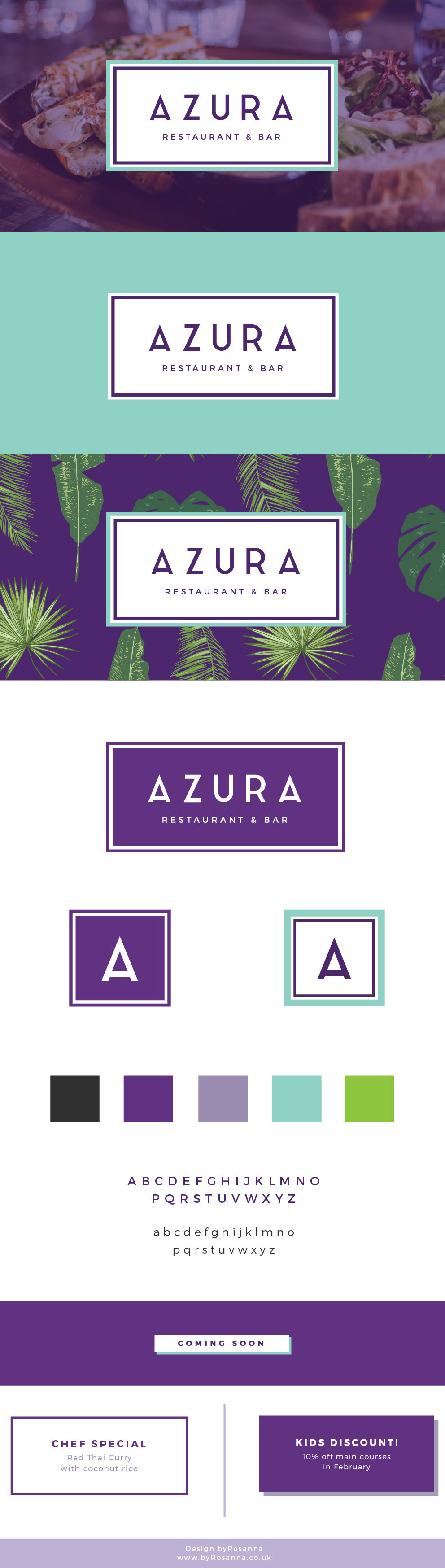 Brand Design for Azura Restaurant & Bar | byRosanna