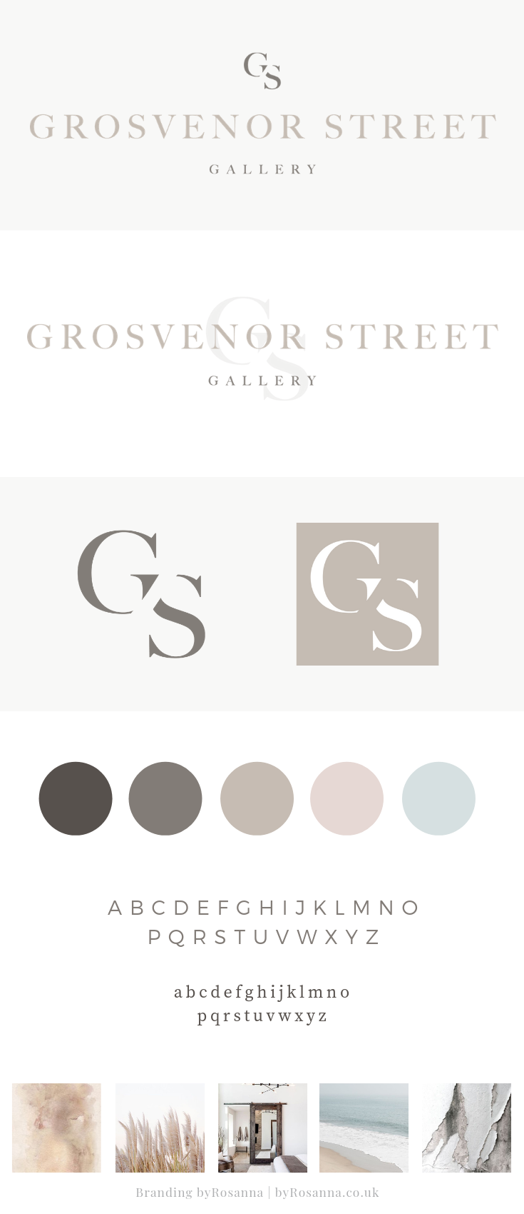 Minimal sophisticated brand design byRosanna