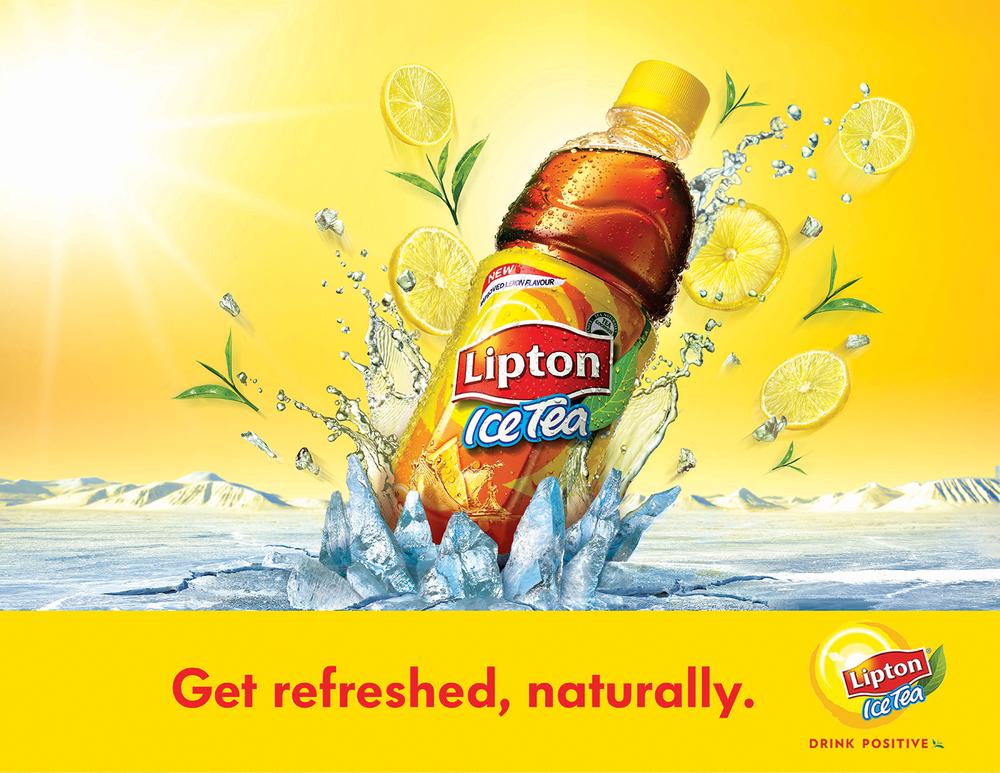 Print ad created for Lipton Ice Tea.