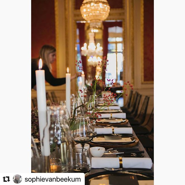 Private dinner for @dni_exclusive_catering Thank you @sophievanbeekum for beautiful pictures! #dinnerstyling #tableware #cichistylingandceramics