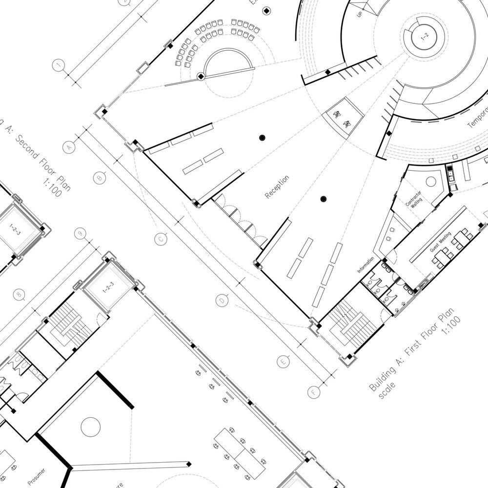 Design - Our designers will create all of the design documents for the project. 2D plans, 3D representations, technical drawings.