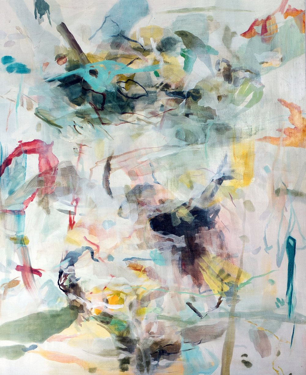 """Oil and wax on canvas  48"""" x 60"""""""