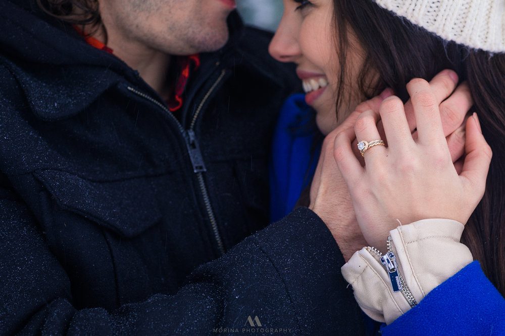 Snow Storm Engagement Session