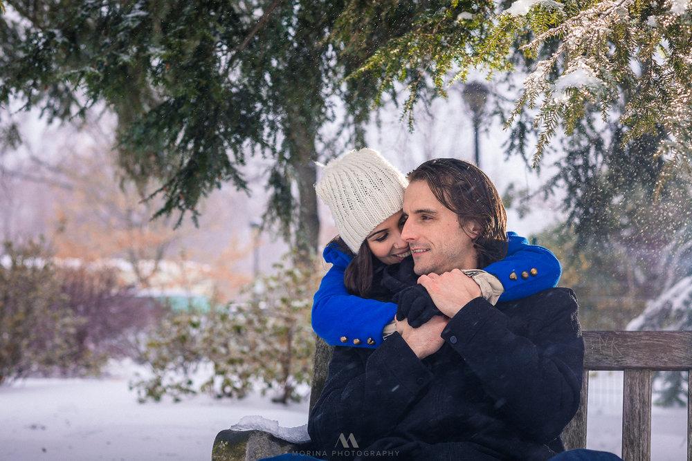 Snow Storm Engagement Session