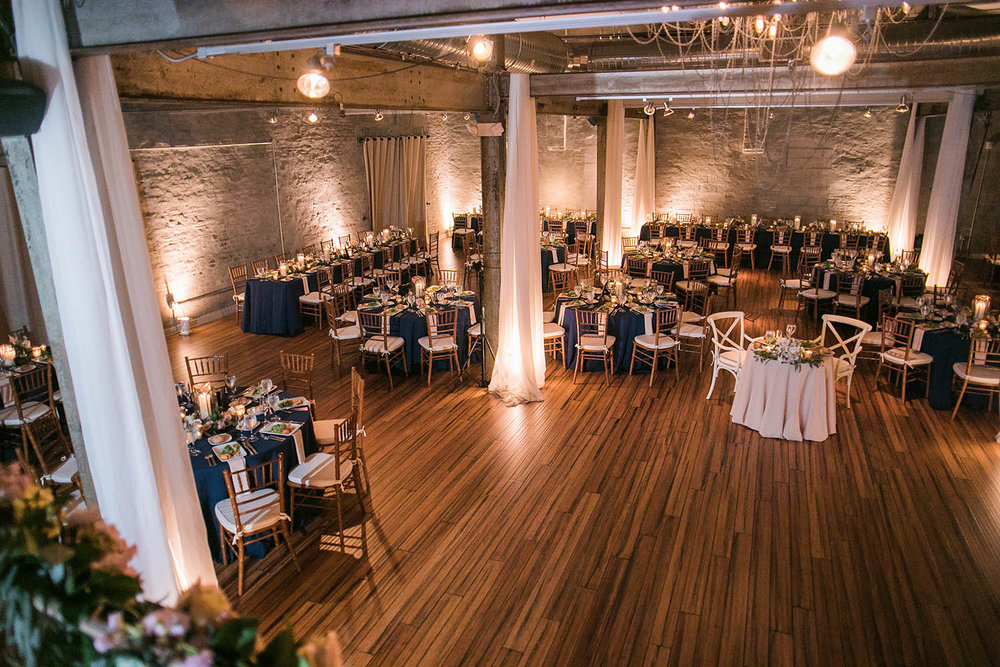 Artsy Industrial feel themed Front and Palmer venue, Philadelphia