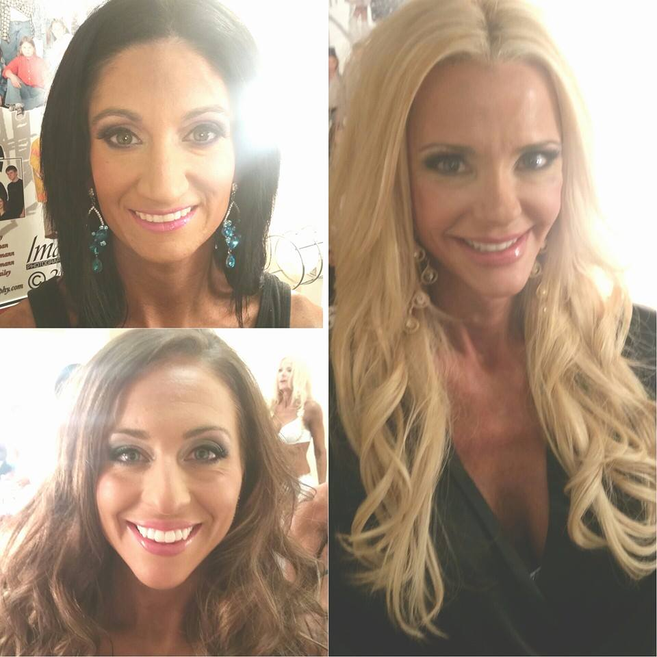 Hair and Makeup on these Babes! #glossagirl #stageready #musclemania