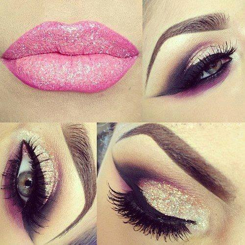 fabmakeups: Do you like this crazy eye makeup? That's a lot of glitter!!!