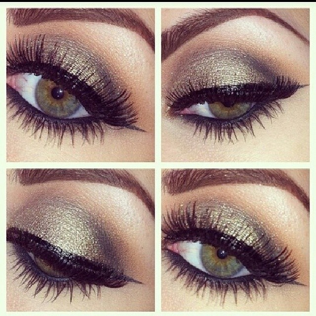 Great stage eye….the perfect amount of shimmer to pop on stage.
