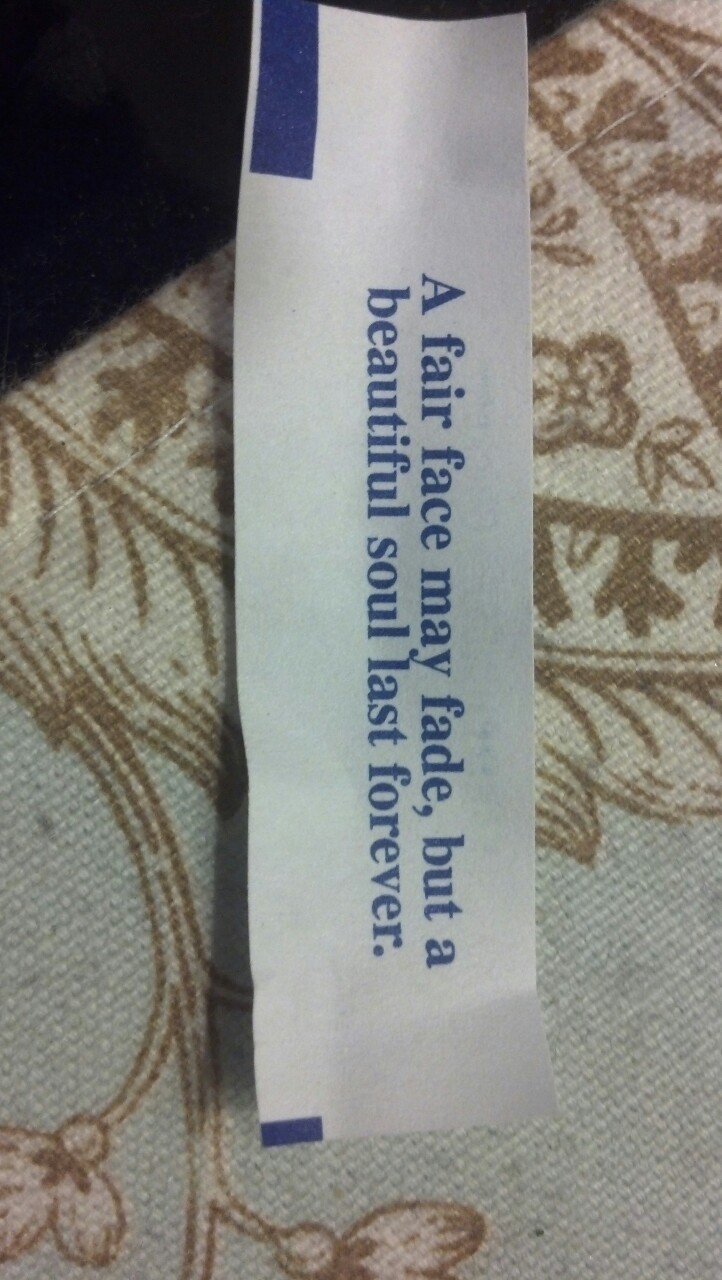 Hmmm this is interesting that it would come in my fortune cookie!